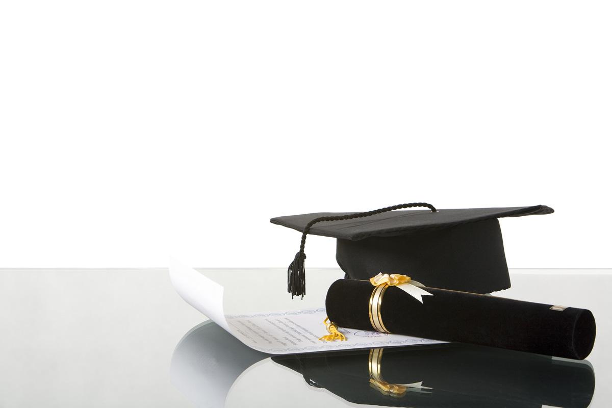 Graduation accessories on the desk